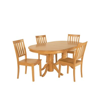 Inwood 5 Piece Extendable Dining Set Color: Oak