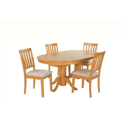 Inwood 5 Piece Extendable Dining Set Color: Oak