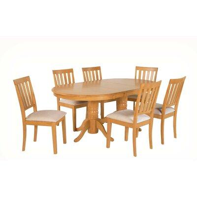 Inwood 7 Piece Extendable Dining Set Color: Oak