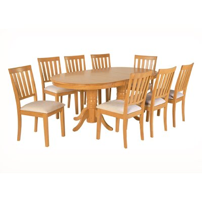 Inwood 9 Piece Extendable Dining Set Color: Oak