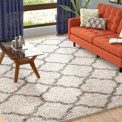 Helsel Ivory Area Rug Rug Size: Rectangle 9 x 12