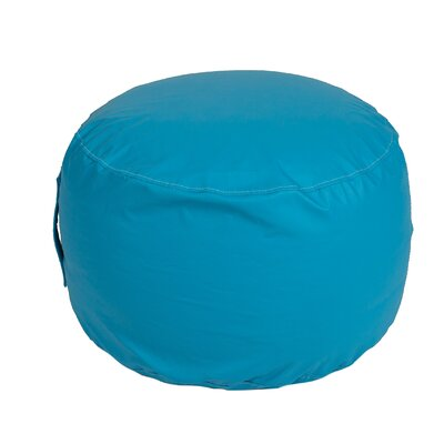 Wayman Round Ottoman Upholstery: Sky Blue