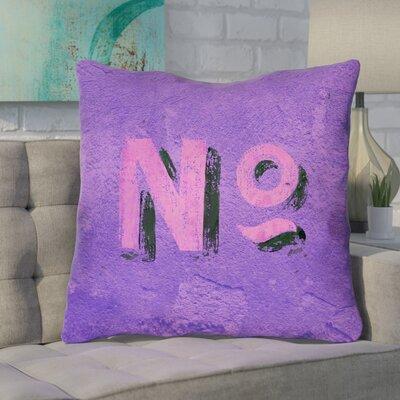Enciso Graphic Indoor Wall Euro Pillow Color: Purple/Pink