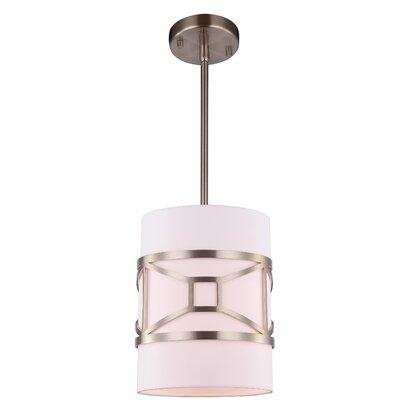 Hultgren 1-Light Mini Pendant Finish: Satin Nickel