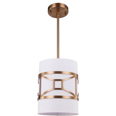 Hultgren 1-Light Mini Pendant Finish: Brass