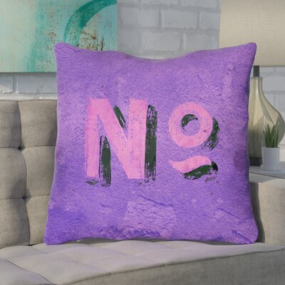 Enciso Graphic Wall 100% Cotton Euro Pillow Color: Purple/Pink
