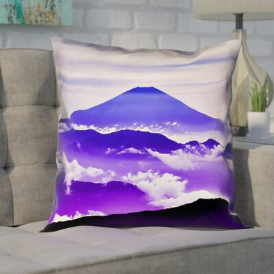 Enciso Fuji Linen Pillow Cover Size: 14 H x 14 W, Color: Blue/Purple