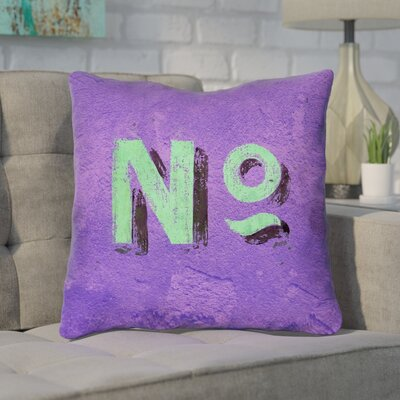 Enciso Graphic Square Indoor Wall Throw Pillow Size: 14 x 14, Color: Purple/Green