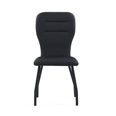Wembley Upholstered Dining Chair (Set of 4) Color: Black