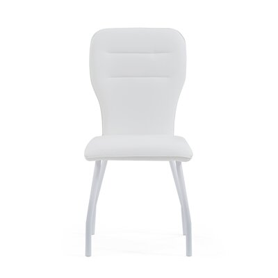 Wembley Upholstered Dining Chair (Set of 4) Color: White