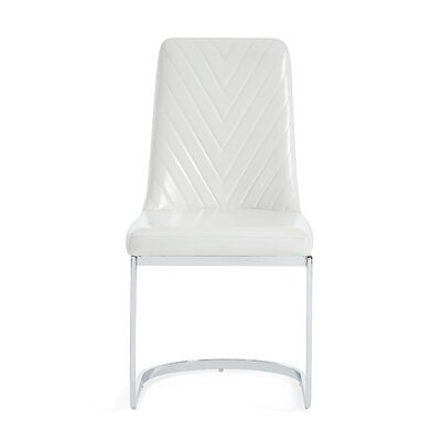Kimbell Upholstered Dining Chair (Set of 2) Color: White