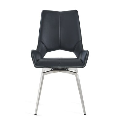 Kimbell Bucket Upholstered Dining Chair Color: Black