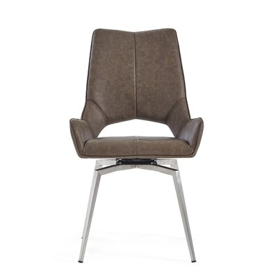 Kimbell Bucket Upholstered Dining Chair Color: Brown