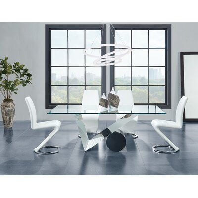 Poitras Geometric Style Base Dining Table
