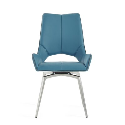Kimbell Bucket Seat Upholstered Dining Chair Color: Turquoise