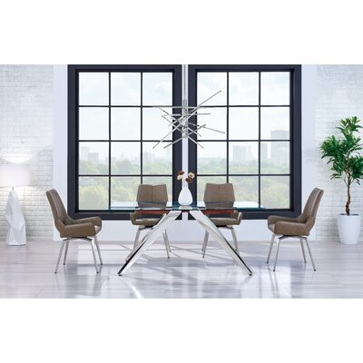 Pointer Quad Pod Base Dining Table