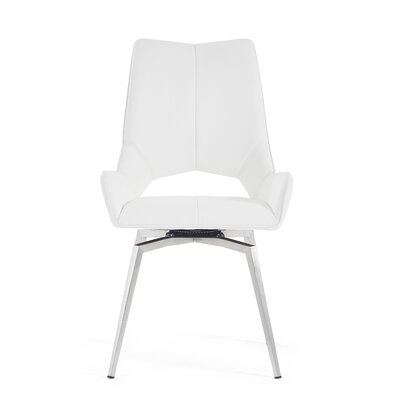 Kimbell Bucket Seat Upholstered Dining Chair Color: White