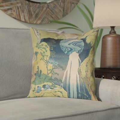 Rinan Japanese Waterfall Suede Pillow Cover Size: 26 x 26