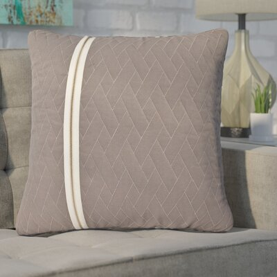 Earhart Zip Throw Pillow Color: Gray/White