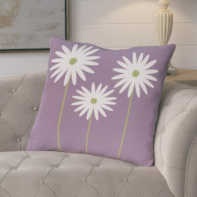 Broecker Floral Print Outdoor Throw Pillow Color: Hyacinth, Size: 16 H x 16 W x 1 D
