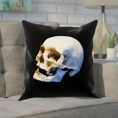 Mensa Skull Square Pillow Cover Size: 18 x 18