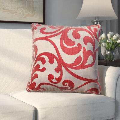 Chalfont Throw Pillow Color: Cardinal Red