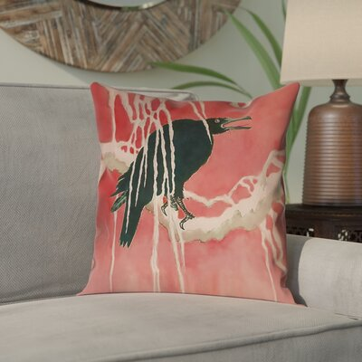 Montreal Crow and Willow Indoor Pillow Cover Size: 14 x 14