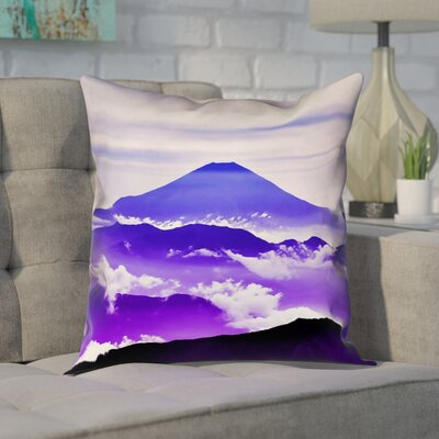 Enciso Fuji Pillow Cover Size: 18 H x 18 W, Color: Blue/Purple