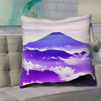 Enciso Fuji Square Throw pillow Size: 20 H x 20 W, Color: Blue/Purple