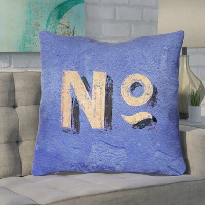 Enciso Graphic Square Wall Euro Pillow Color: Blue/Beige