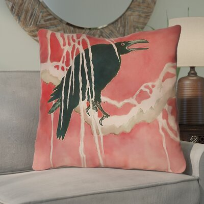 Montreal Crow and Willow Square Euro Pillow