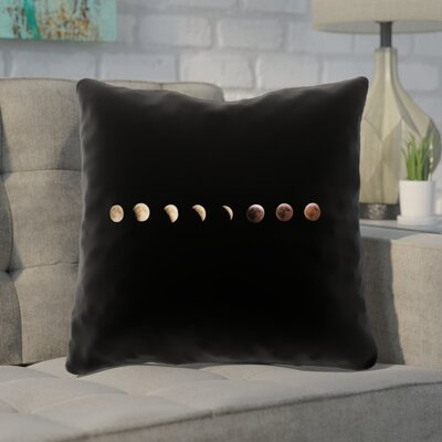 Shepparton Moon Phases Square Throw Pillow Size: 18 x 18