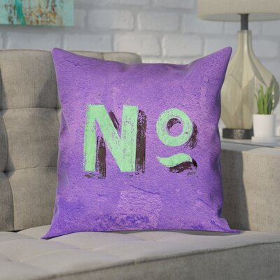 Enciso Graphic Wall 100% Cotton Pillow Cover Size: 14 x 14, Color: Purple/Green