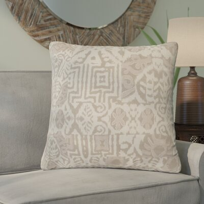 Barbara Linen Throw Pillow Color: Ivory/Taupe