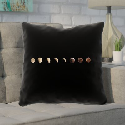 Shepparton Moon Phases Double Sided Print Throw Pillow Size: 14 x 14