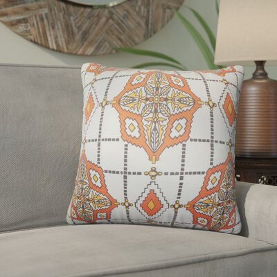 Delane Geometric Cotton Throw Pillow Color: Chili Pepper, Size: 18 x 18