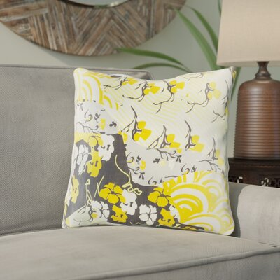 Hebert Silk Throw Pillow Size: 22 H x 22 W x 4 D, Color: Gold, Filler: Down