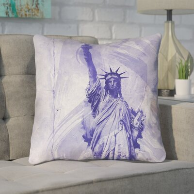 Houck Statue of Liberty Throw Pillow Size: 18 H x 18 W