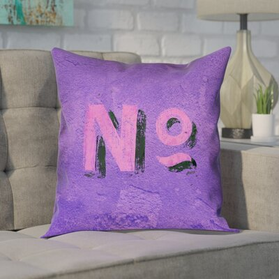 Enciso Graphic Wall 100% Cotton Pillow Cover Size: 14 x 14, Color: Purple/Pink