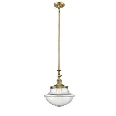 Draeger 1-Light Schoolhouse Pendant Finish: Brushed Brass