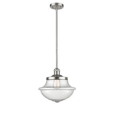 Deserie 1-Light Schoolhouse Pendant Finish: Brushed Satin Nickel