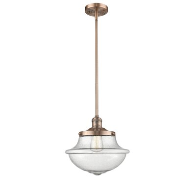 Draeger 1-Light Schoolhouse Pendant Finish: Antique Copper