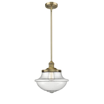 Deserie 1-Light Schoolhouse Pendant Finish: Brushed Brass