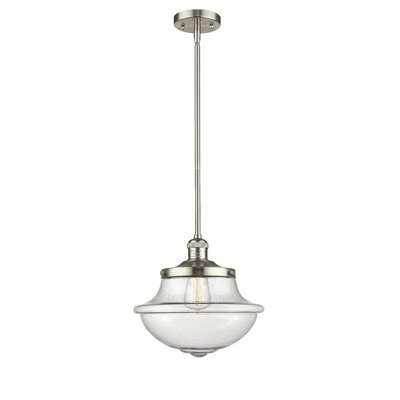 Draeger 1-Light Schoolhouse Pendant Finish: Polished Nickel