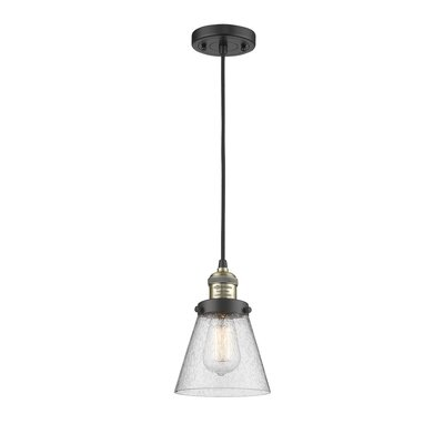 Adalwen 1-Light Mini Pendant Finish: Black Brushed Brass