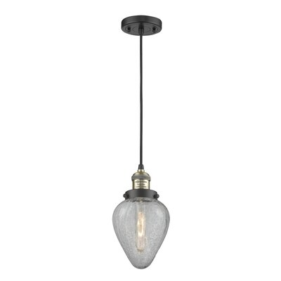 Bontrager 1-Light Mini Pendant Finish: Black Brushed Brass