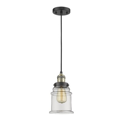 Greeley 2-Light Mini Pendant Finish: Black Brushed Brass