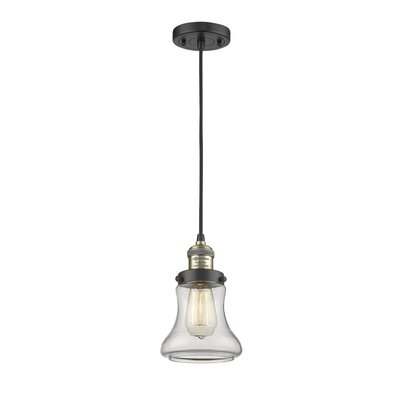 Nardone 1-Light Mini Pendant Color: Black Brushed Brass