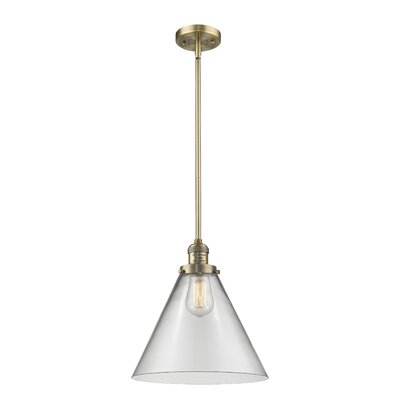 Elonso 1-Light Mini Pendant Finish: Brushed Brass, Shade Color: Clear