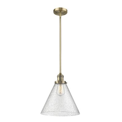 Conrado 1-Light Mini Pendant Finish: Brushed Brass